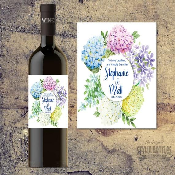 Custom Wedding Gift Wedding Wine Bottle Label Personalized Etsy