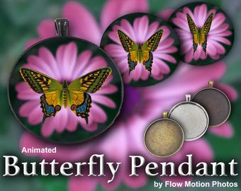Animated Butterfly Pendant