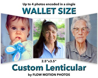 "2.5""x3.5"" WALLET SIZE Custom Lenticular"