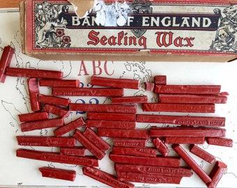 Box of Vintage Sealing Wax. Bank of England Sealing Wax.
