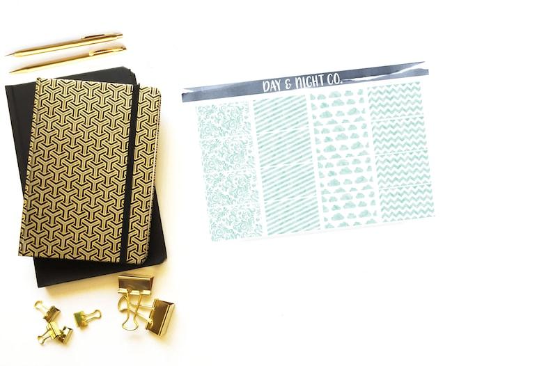 Perfect for Erin Condren Life Planners Mint Watercolor Sticker Set Journals Stickers.