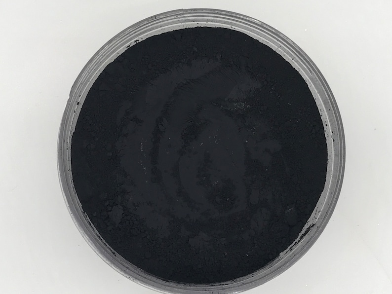 Coal Black Matte Pigment-Safe for Face and Body image 1