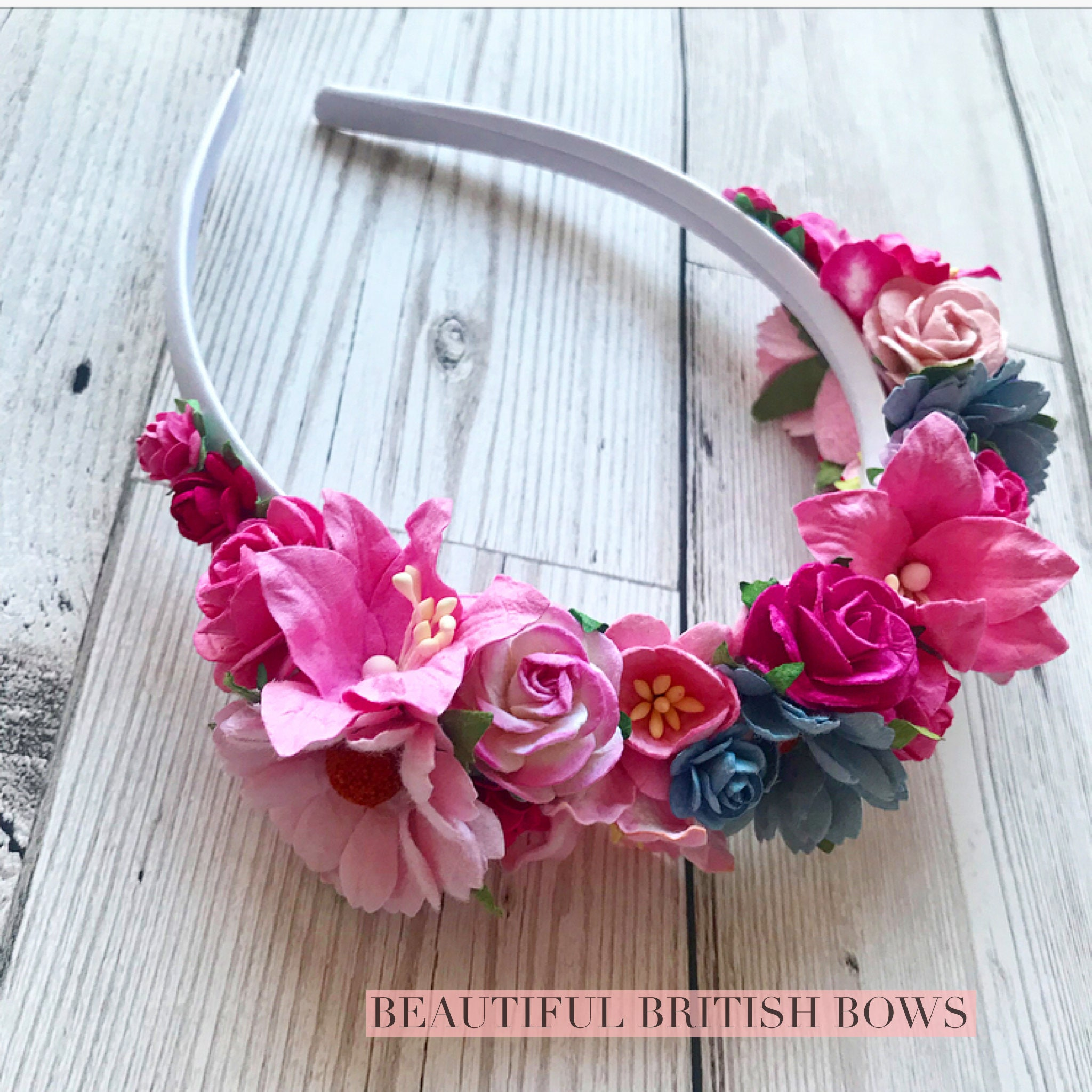 Floral Flower Crown Headband Birthday Crown Romantic Pretty