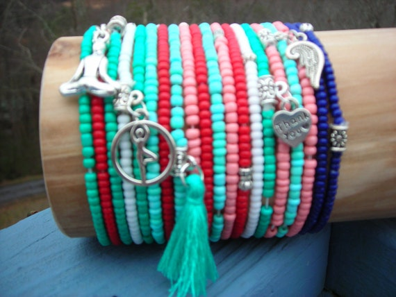kids love school colors You can mix the bracelets 10 single  strand seed bead bracelets in your size and color choice pick your  colors