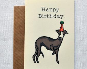 Whippet Birthday Card