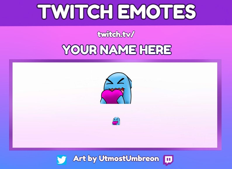 Wobbuffet Emote for Twitch and Discord - Ready to Use - OOAK
