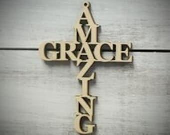 Amazing Grace Cross Etsy