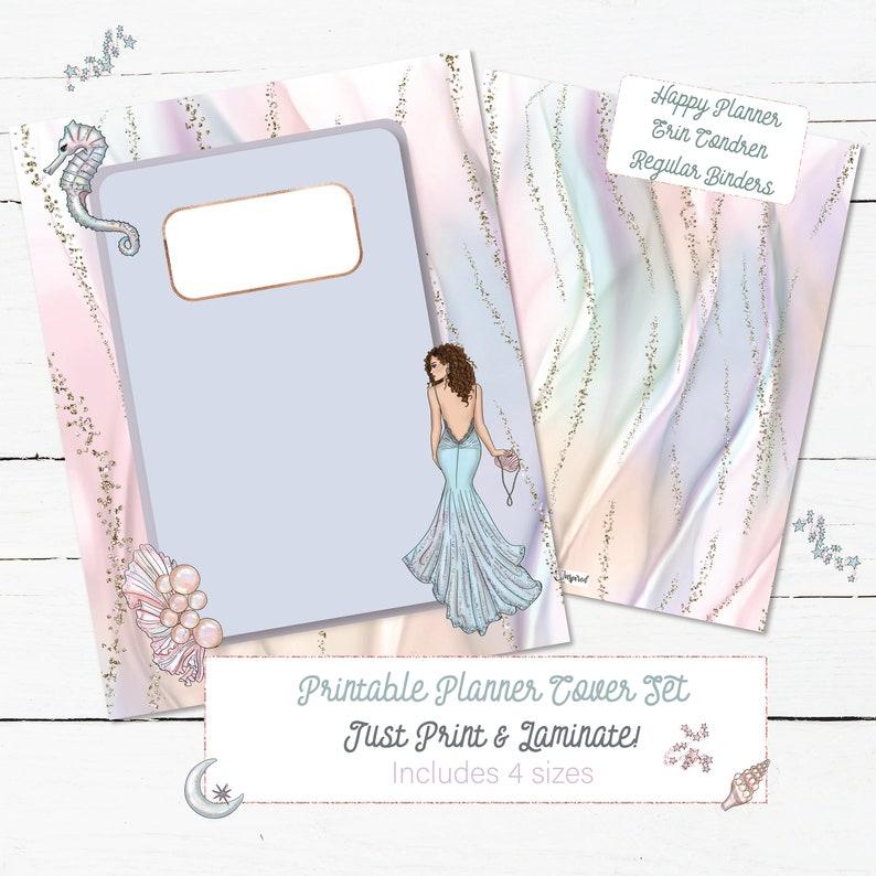Printable Planner Cover Set, Erin Condren, Big Mini Happy Planner, Binder  Cover Divider Sirens & Mermaid Design, Instant Download, ECLP