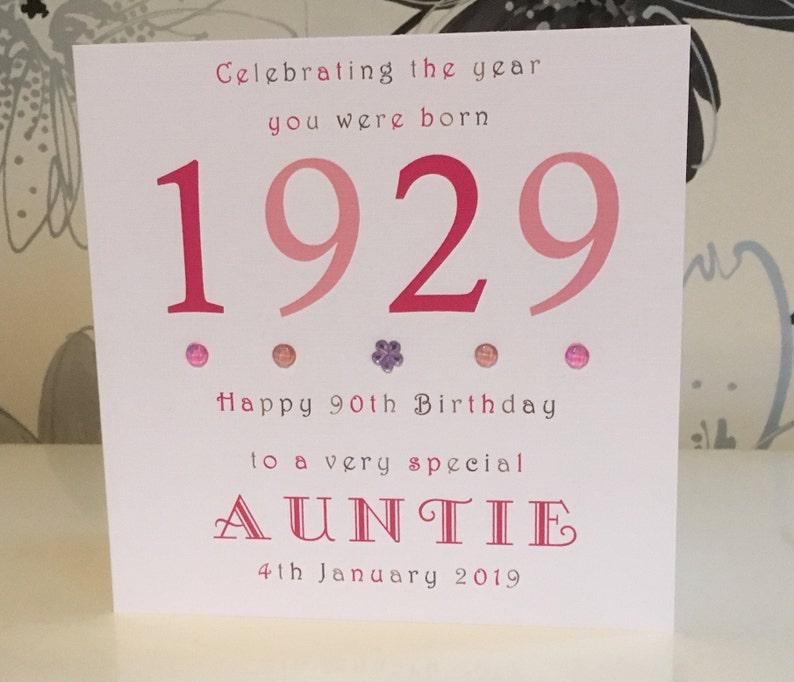 Female Year You Were Born Personalised Birthday Card 100th