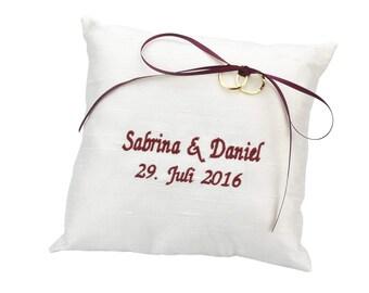 Silk Ring pillow - personalised