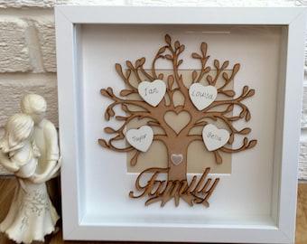 Light Family Tree Family Tree Frame Personalised Family