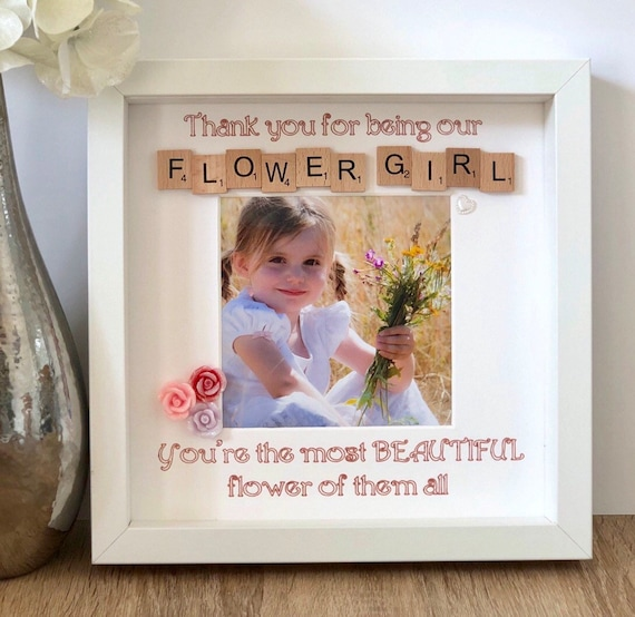 Personalised Frame Princess Bridesmaid//Flower Girl Thank You Gift//Wedding Favour