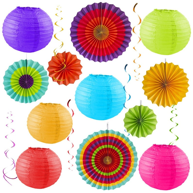 Colorful Party Pack Birthday Decorations Outdoor Fiesta