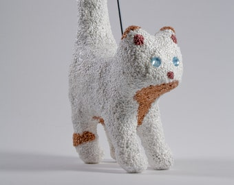 "Photo holder ""White-red cat"""