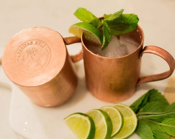 American Mule 100% Copper Mug of Superior Quality Handmade in The Copper State, USA (14oz Built Using Thick American Copper)