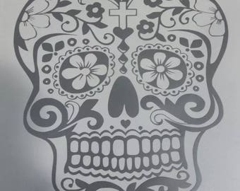 Day of the dead sugar skull decal