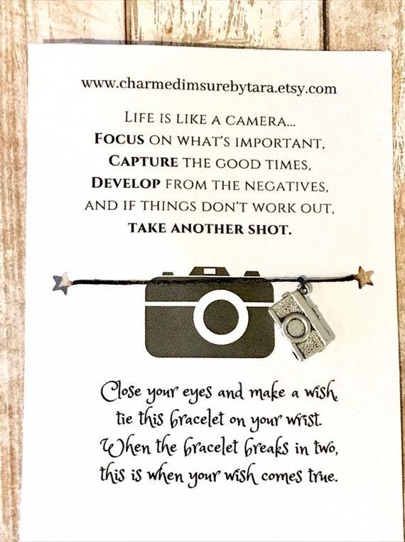 Make A Wish Bracelet// Charm Bracelet Life Is Like A Camera