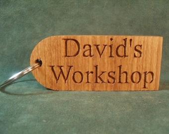 PERSONALISED KEYRING Key FOB, Engraved Keychain, Custom Keyring, Personalised Gift, Key Fob, Custom Key Chain, KeyTag, Custom Key Ring, Wood