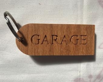 PERSONALISED WOODEN KEYRING, Engraved Wood Fob ,  Custom Hotel B&B Cottage Glamping Beach Hut, Personalised Gift, Key Chain, Worksop Keyring
