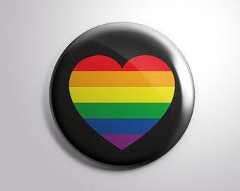 Rainbow Heart Button