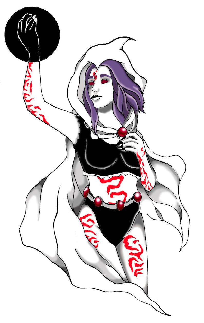 Raven-Teen Titans-Fantasy Art-Art Prints-Cute Gifts