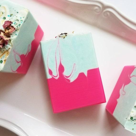 Wild Rose Silk Soap / Handmade Soap / Cold Process Soap