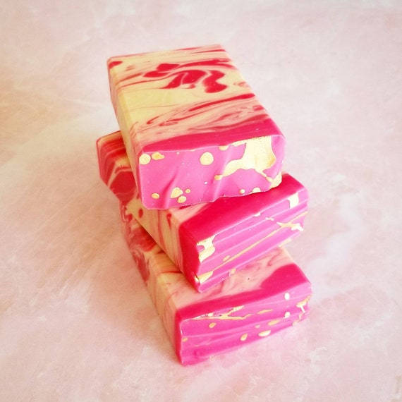 Cherry Almond / Artisan Soap / Handmade Soap / Silk Soap