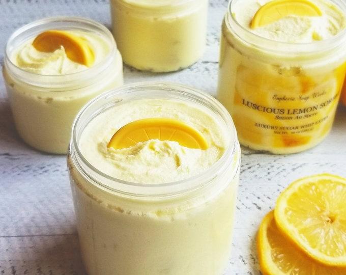Luscious Lemon Sorbet Sugar Whip / Sugar Scrub / Bath Whip / Sugar Scrub Soap
