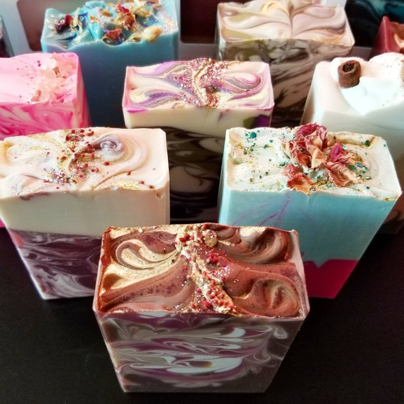 Eight Pack Silk Soap / Handmade Soap  / Cold Process Soap