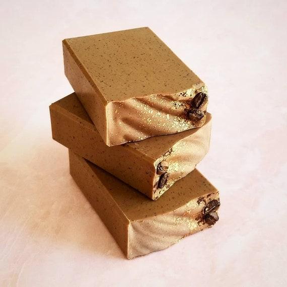 Coffee Scrub Artisan Soap / Handmade Soap / Silk Soap