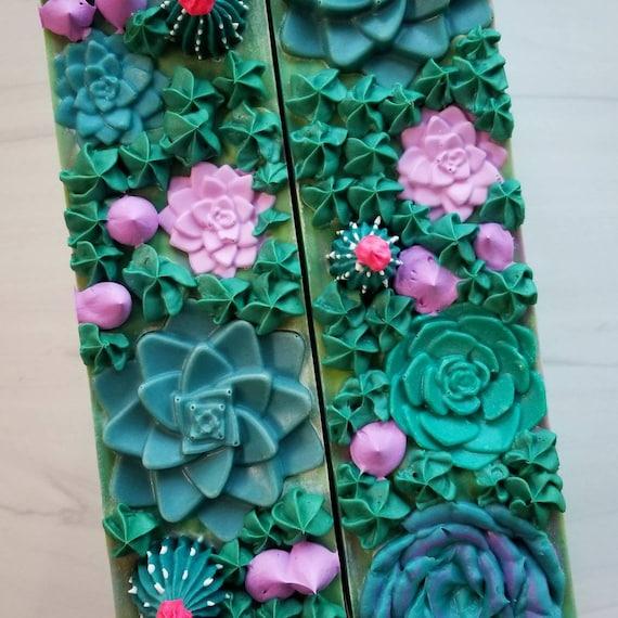 Succulent Garden Silk Soap