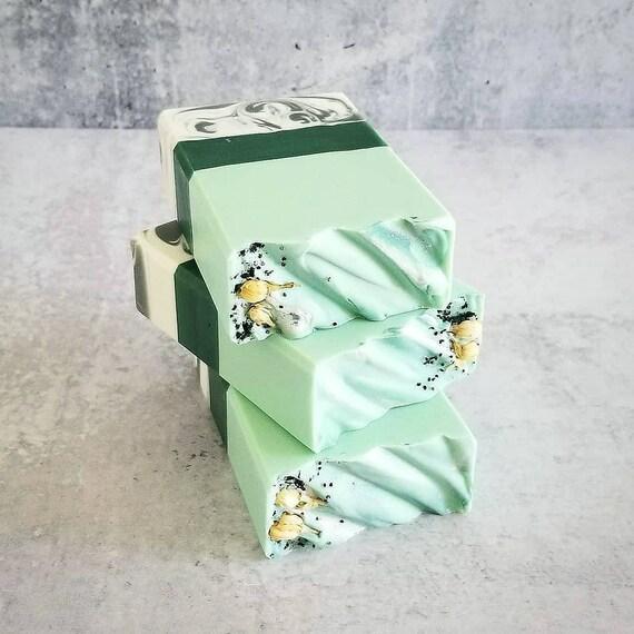 White Lily & Aloe Silk Soap / Handmade Soap / Cold Process Soap