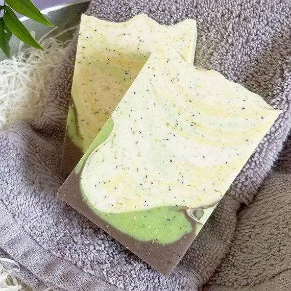 Garden Scrub Silk Soap / Handmade Soap  / Cold Process Soap / Essential Oil Soap
