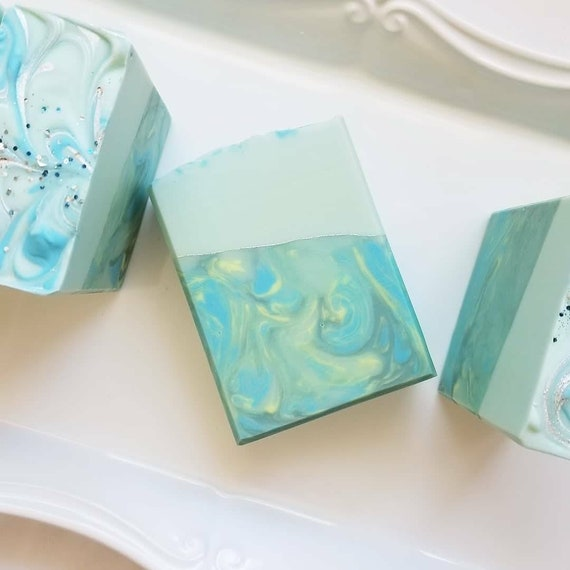 ON SALE Rosemary Mint Silk Soap / Handmade Soap  / Cold Process Soap