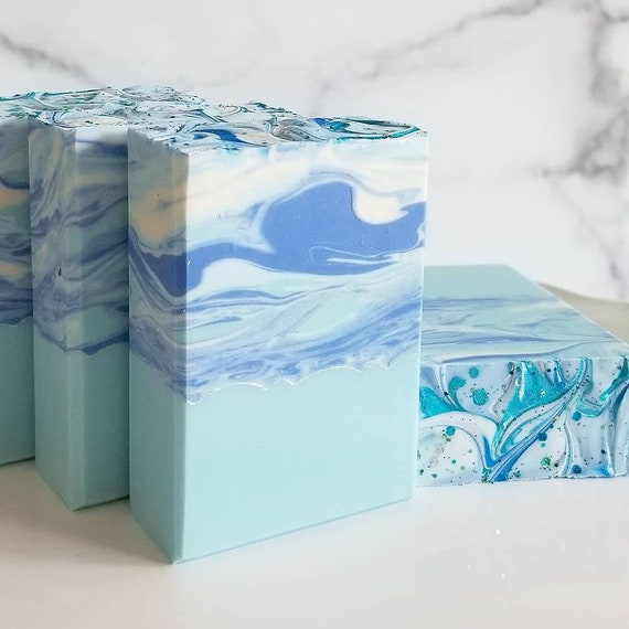 Frozen Artisan Soap / Handmade Soap / Silk Soap