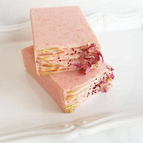 Strawberries & Champagne Silk Soap/ Handmade Soap/ Cold Processed Soap