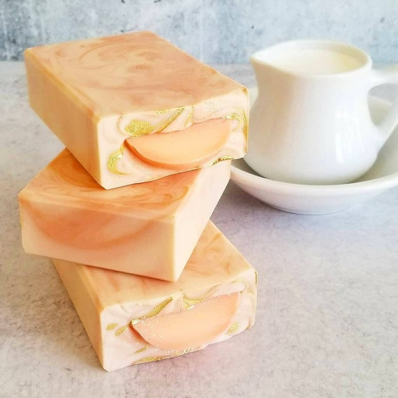 Just Peachy Silk Soap / Handmade Soap / Cold Processed Soap