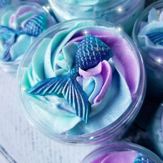Mermaid Kisses Sugar Scrub Soap /Whipped Soap/ Whipped Sugar Scrub / Foaming Bath Whip