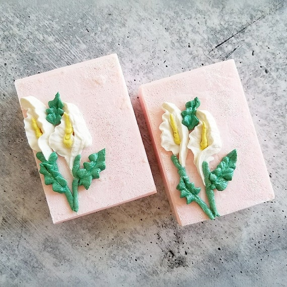 Calla Lily Silk Soap / Handmade Soap/ Cold Processed Soap