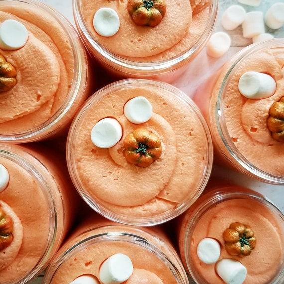 Pumpkin Marshmallow Cupcake Sugar Whipped Soap