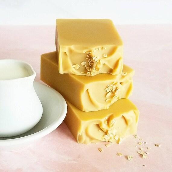 Goat's Milk Oats & Honey Silk Soap / Handmade Soap / Cold Processed Soap