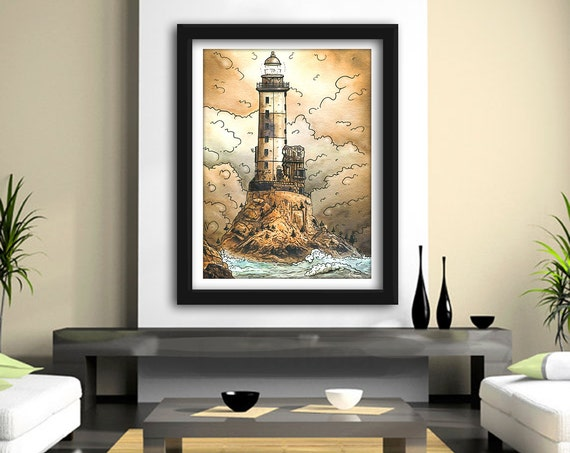 Lighthouse Dream-  Print, Framed Print, or Canvas Giclee