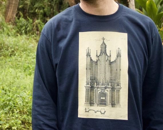 Gothic Organ MudFlood T-shirt Island Elementals Vintage Hawaii Mud Flood pipe organ Long Sleeve