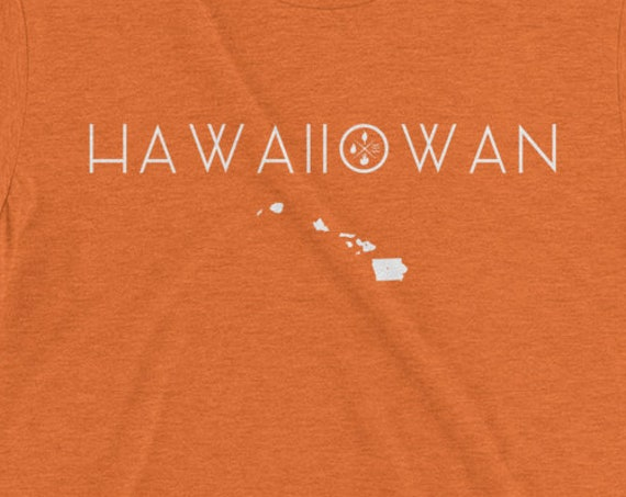 Hawaiiowan Hawaii Iowa Aloha Tshirt- Vintage Aloha Shirt Big Island Love t-shirt