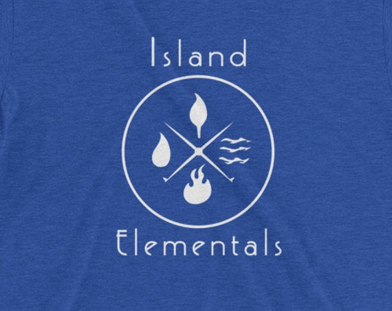 Island Elementals Tshirt- Teal Seafoam Hawaii Ocean Element Shirt