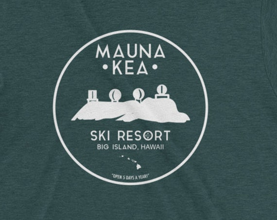 Mauna Kea Ski Resort Hawaii T-Shirt Vintage Big Island Volcano Observatory Tshirt High Quality Island Shirt