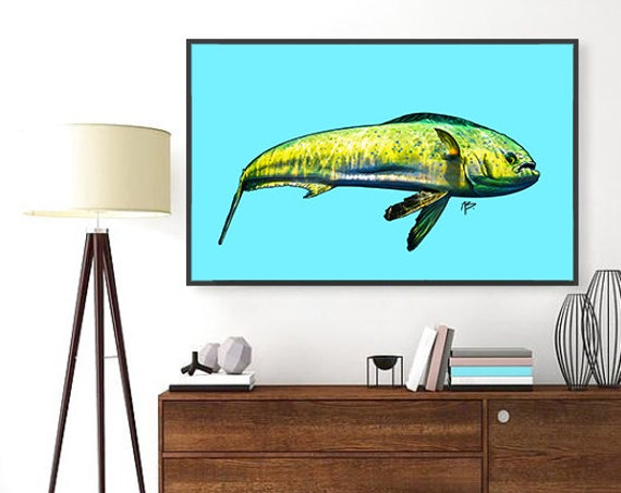 Aloha Mahi Mahi- Print, Framed Print, or Canvas Giclee