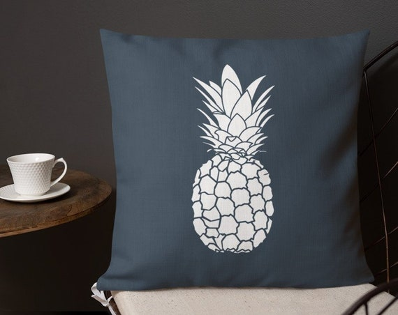 Aloha Pineapple- Accent Pillow- Minimalist Decor- Tropical Pineapple Decor