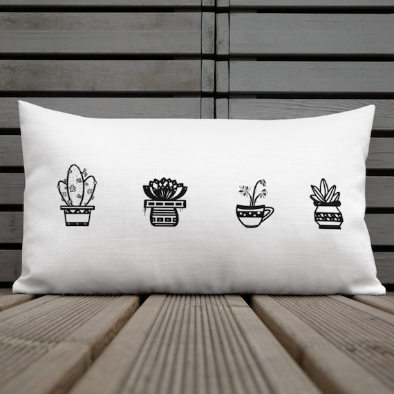 Minimalist Succulent Throw Pillow