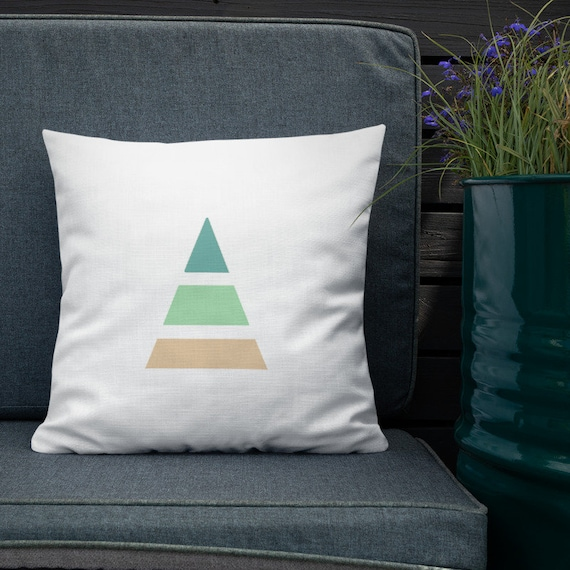 Minimalist Triangle Accent Pillow